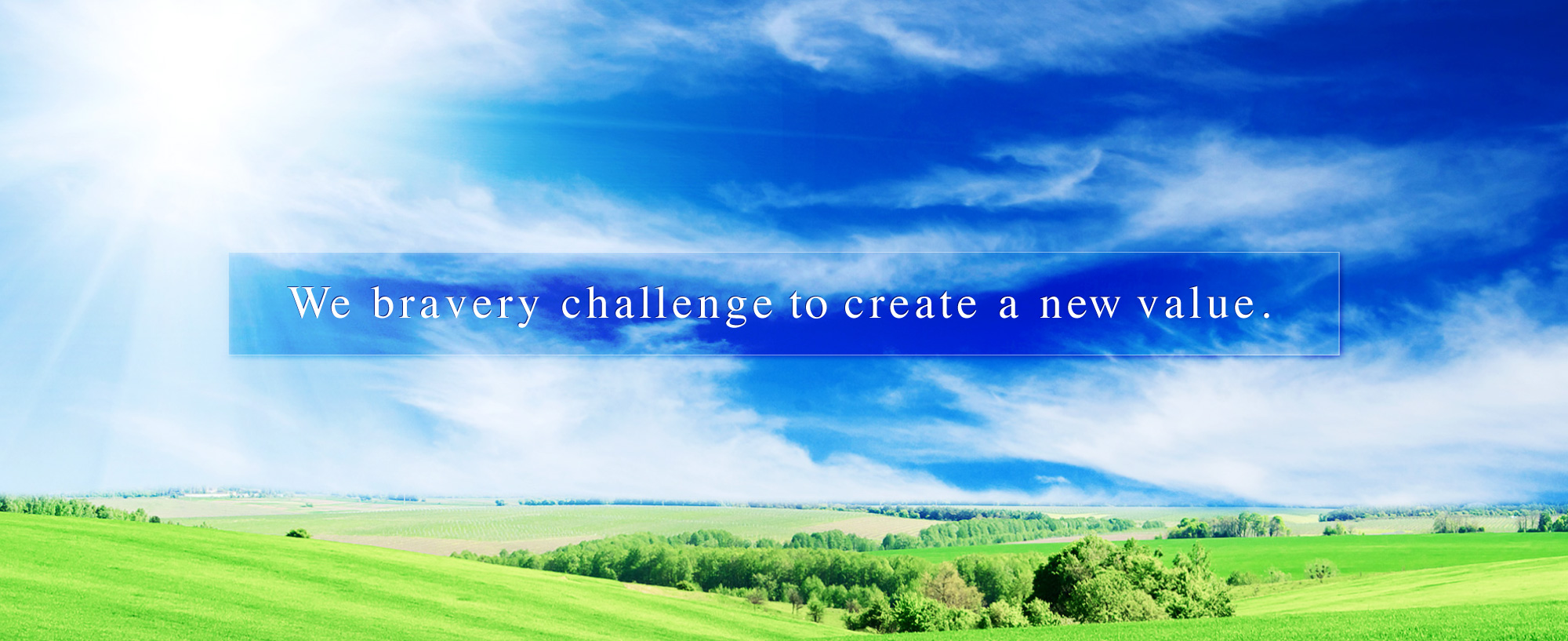 We baravery challenge to create a new value.